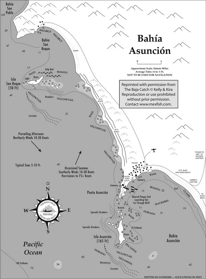 Reproduction of this Bahia Asuncion map is prohibited without prior