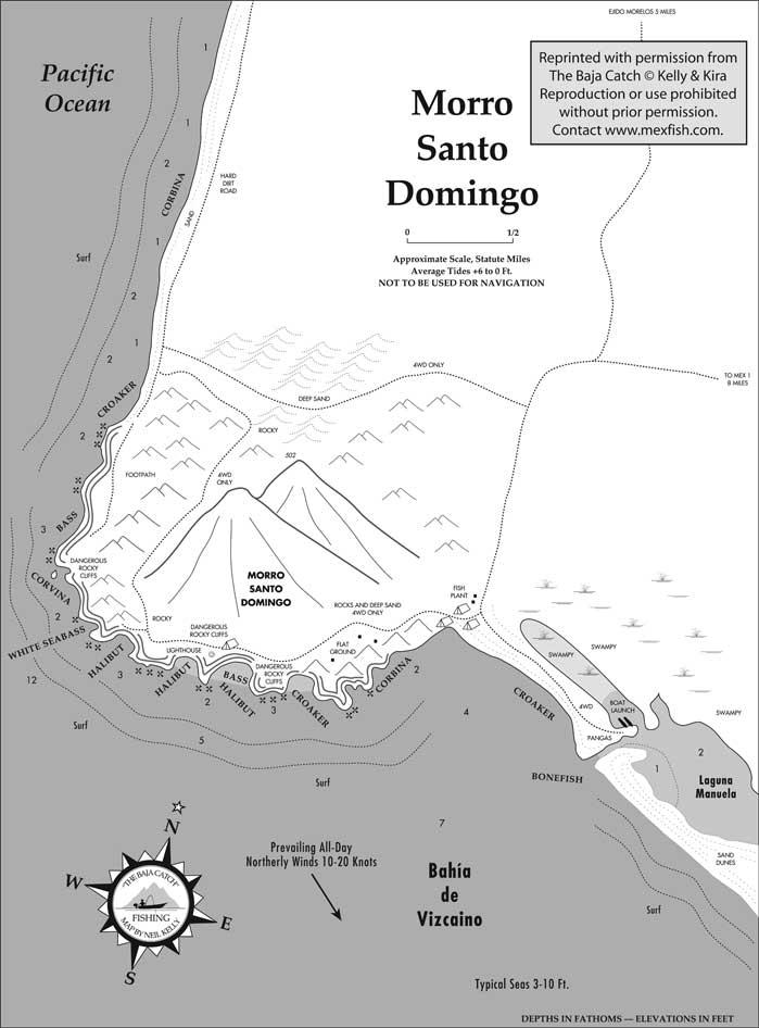 Santo Domingo Fishing Map