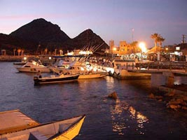 Photo of marina at dawn, Cabo San Lucas, Baja California Sur, Mexico.