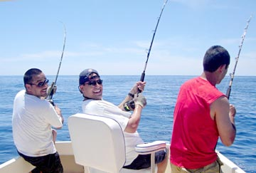 Dorado chewing in fishing action at puerto vallarta 39 s for San carlos mexico fishing